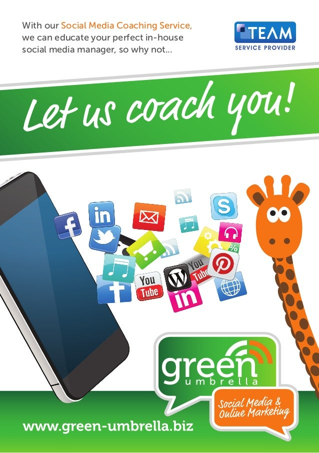 With our Social Media Coaching Service, we can educate your perfect in-house social media manager, so why not...