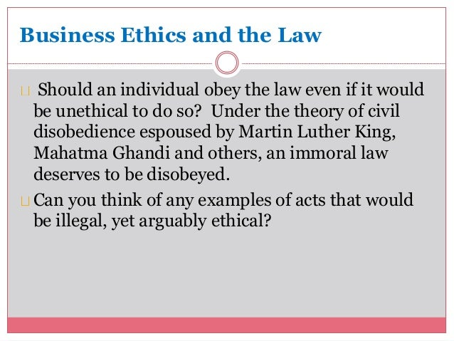 law and ethics for business owners Start studying chapter 4 - business ethics learn ethics is less certain than law business owners' misbehavior can have negative consequences for.