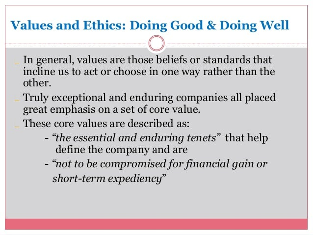 analysis of ethics and values Addressing the question--with what ethical standards and values should the   mathews' content analysis of 202 fortune 500 company codes revealed that firms .