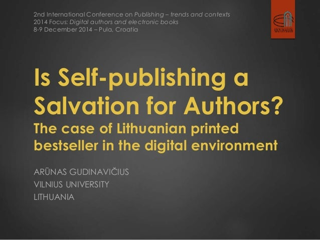 2nd International Conference on Publishing – trends and contexts  2014 Focus: Digital authors and electronic books  8-9 De...