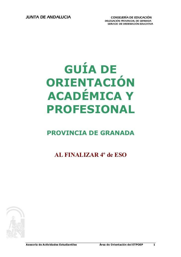 JUNTA DE ANDALUCIA                             CONSEJERÍA DE EDUCACIÓN                                           DELEGACIÓ...