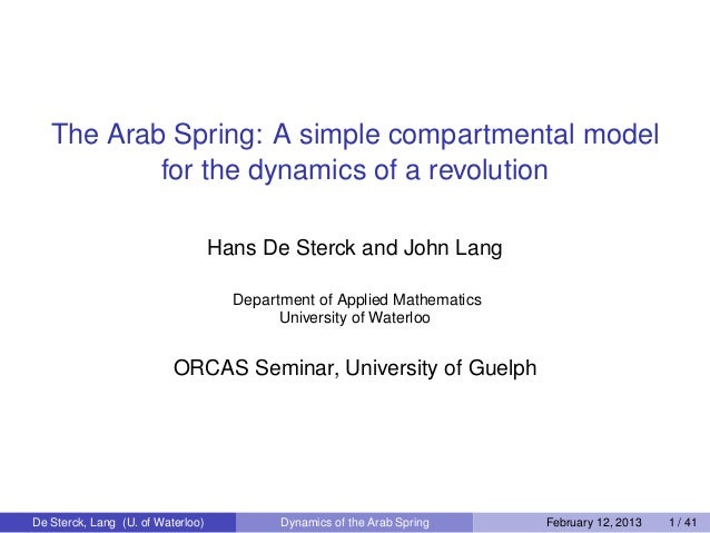 The Arab Spring: A simple compartmental model           for the dynamics of a revolution                                  ...