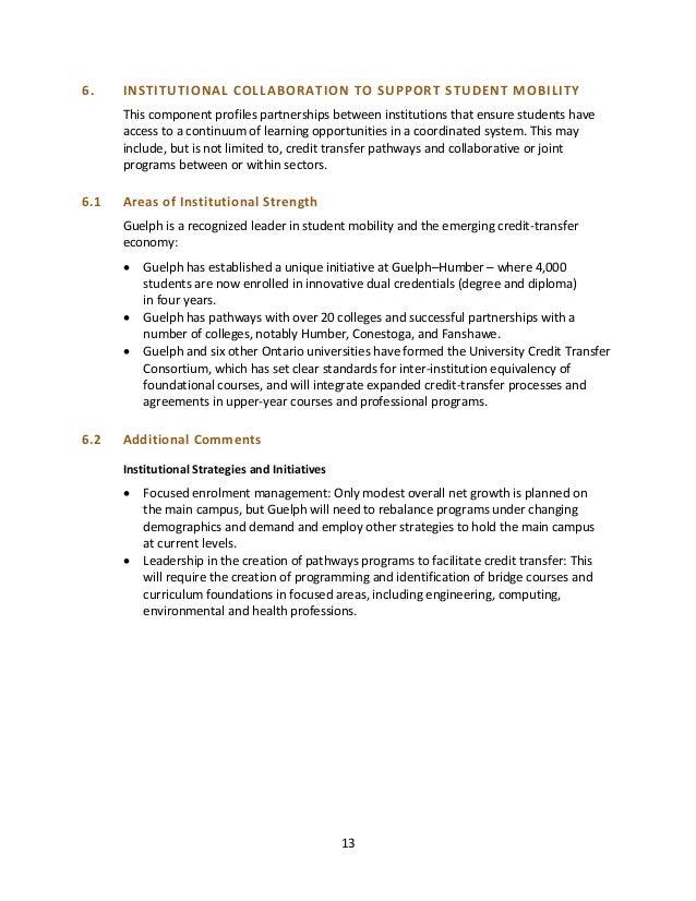 University Of Guelph Strategic Mandate Agreement