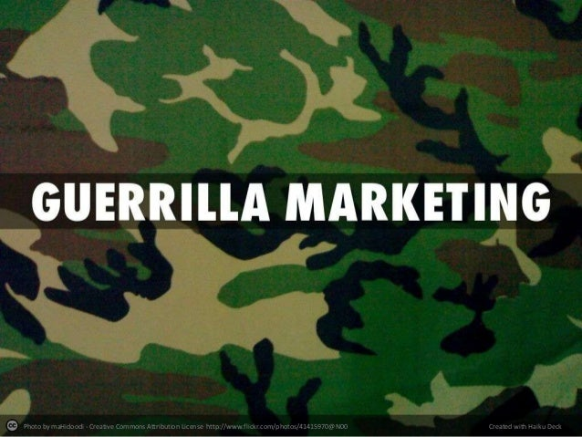 Guerilla marketing thesis