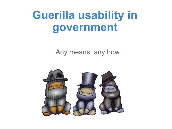Guerilla usability in government Any means, any how