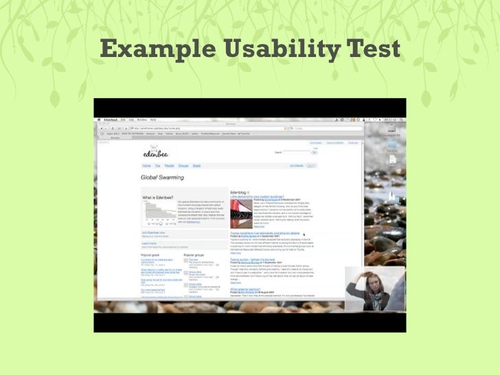 Example Usability Test