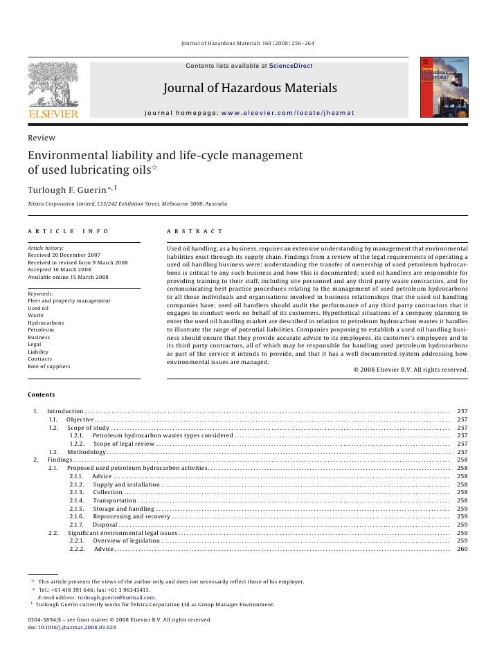 Journal of Hazardous Materials 160 (2008) 256–264                                                                         ...
