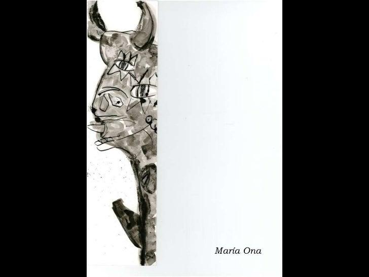 Reinterpretación Guernica Tinta China Slide 2