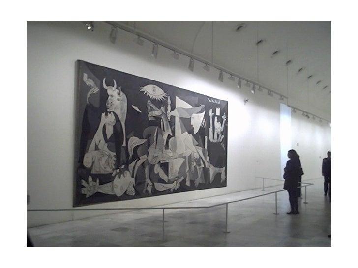 Guernica ou o manifesto político de P. PicassoUm dos quadros que melhortransmite todo o desesperoadvindo     da   guerra  ...