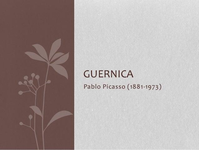 Pablo Picasso (1881-1973) GUERNICA