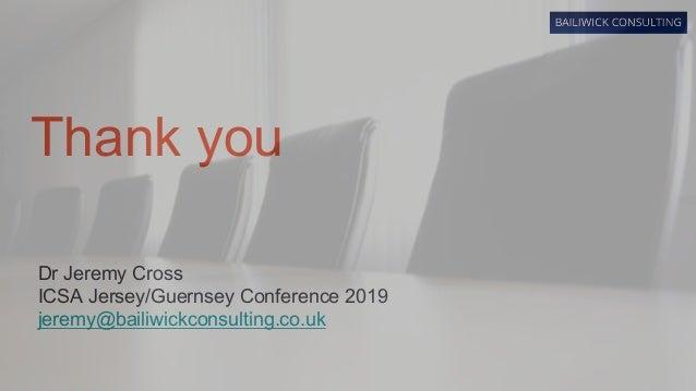 ICSA Guernsey Conference 2019 - Updated presentation slides