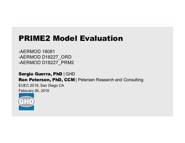 Sergio Guerra, PhD | GHD Ron Petersen, PhD, CCM | Petersen Research and Consulting EUEC 2019, San Diego CA February 26, 20...