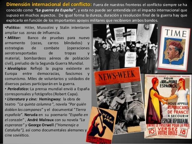 """Dimensión internacional del conflicto:           Fuera de nuestras fronteras el conflicto siempre se haconocido como """"La g..."""
