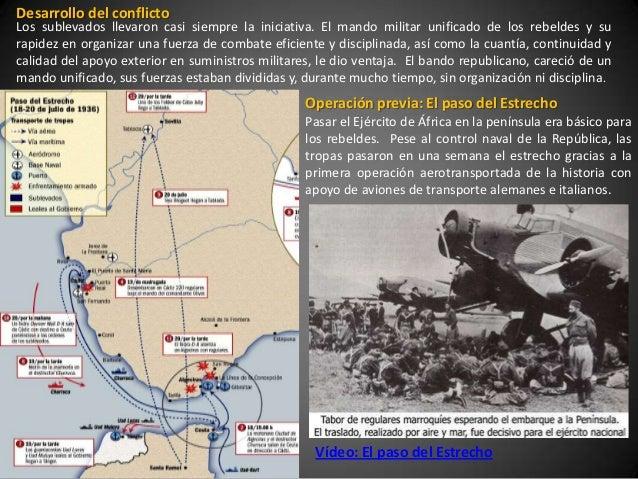 Desarrollo del conflictoLos sublevados llevaron casi siempre la iniciativa. El mando militar unificado de los rebeldes y s...