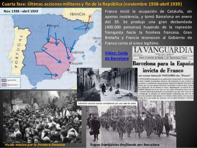Cuarta fase: Últimas acciones militares y fin de la República (noviembre 1938-abril 1939)Nov. 1938 –abril 1939            ...