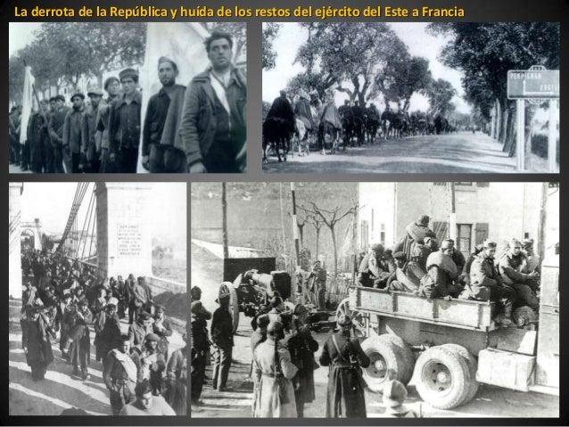 La derrota de la República y huída de los restos del ejército del Este a Francia