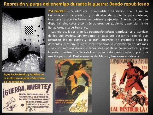 """Represión y purga del enemigo durante la guerra: Bando republicano                                     """"LA CHECA"""": O """"chek..."""