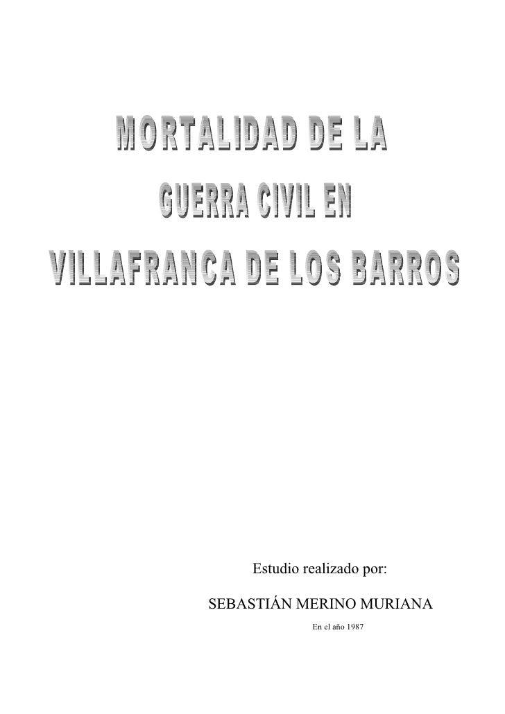 La Guerra Civil en Villafranca
