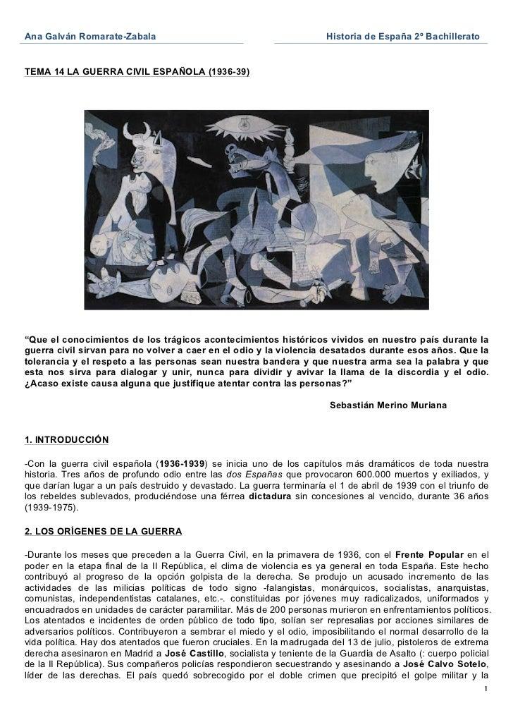 Ana Galván Romarate-Zabala                                             Historia de España 2º Bachillerato               ...
