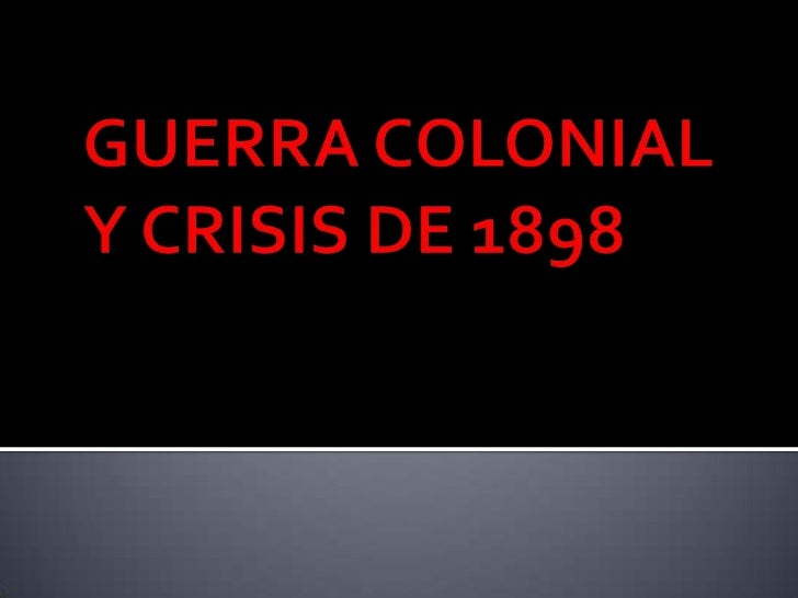    El estallido del conflicto fue resultado de dos hechos:       1- Inexistencia de una política colonial que diera cump...