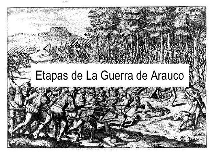 Etapas de La Guerra de Arauco