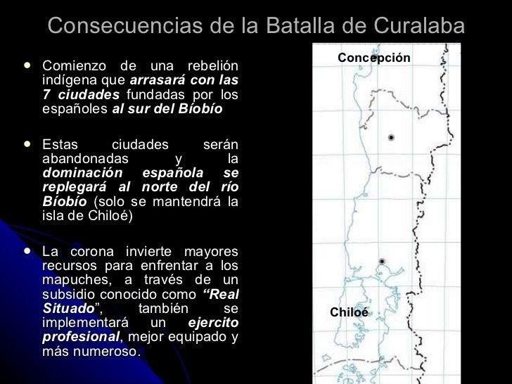 Consecuencias de la Batalla de Curalaba <ul><li>Comienzo de una rebelión indígena que  arrasará con las 7 ciudades  fundad...