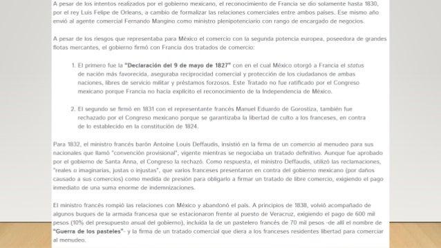 A principios de 1839 se iniciaron las negociaciones entre M�xico y Francia, contando con la mediaci�n del ministro ingl�s ...