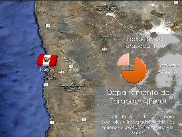 Población de          Tarapacá, 1870                           peruanos                           chilenos  Departamento d...