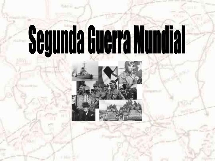 IntroducciónUno de los conflictos más devastadores del siglo XX fue la 2ªguerra mundial, la cual se desarrolló entre 1939 ...