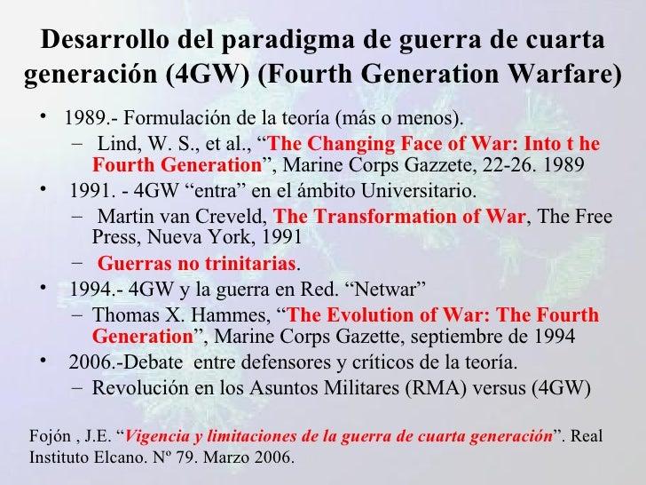 Guerras de cuarta generación y Redes Complejas