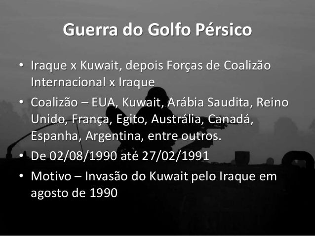 As Guerras do Golfo (Guerra do Golfo e do Iraque)