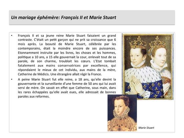 Un mariage éphémère: François II et Marie Stuart • François  II  et  sa  jeune  reine  Marie...