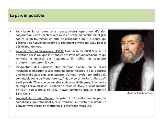 La paix impossible • Le  clergé  lança  alors  une  spectaculaire  opéraPon  d'acPon conjuratoire....