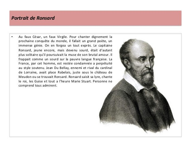 Portrait de Ronsard • Au  faux  César,  un  faux  Virgile.  Pour  chanter  dignement  la procha...