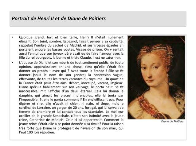 Portrait de Henri II et de Diane de Poi6ers • Quoique  grand,  fort  et  bien  taille,  Hen...