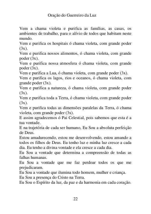 Favoritos ORAÇÃO DO GUERREIRO DA LUZ GS28