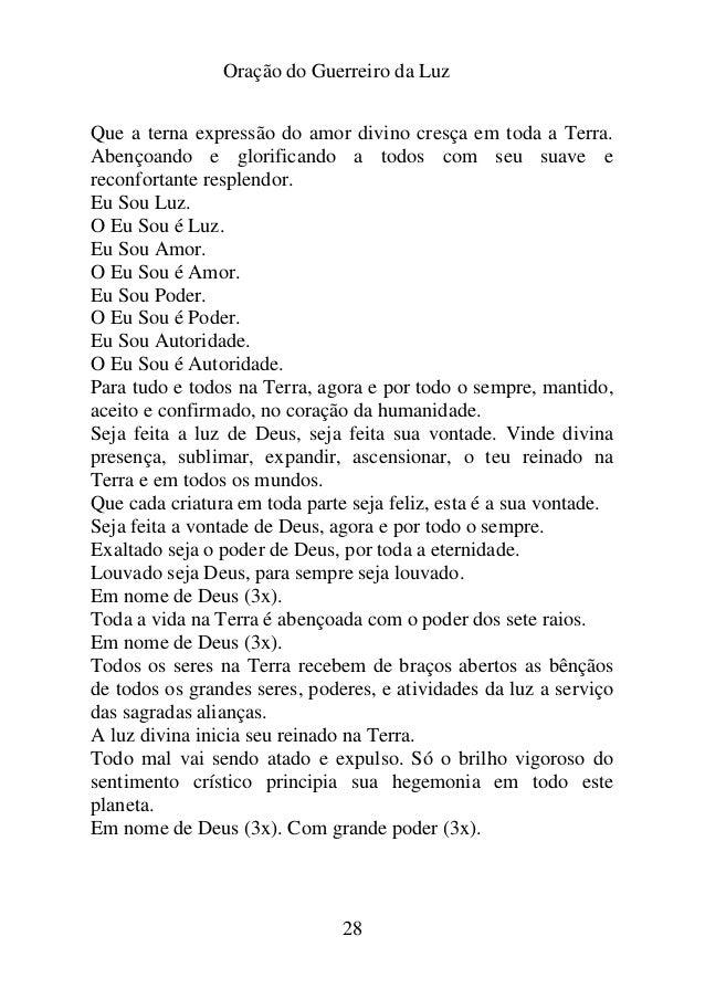 Muitas vezes ORAÇÃO DO GUERREIRO DA LUZ TK81