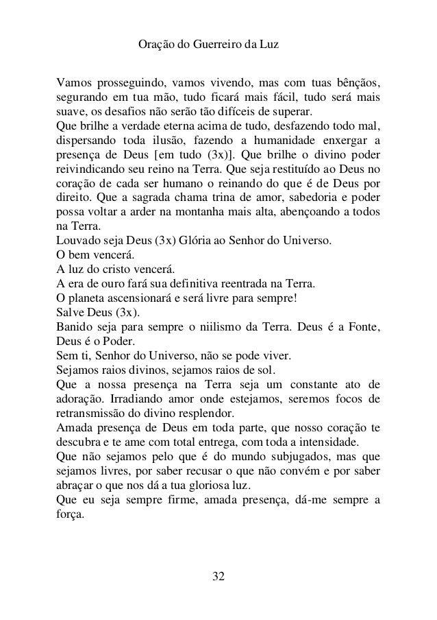 Populares ORAÇÃO DO GUERREIRO DA LUZ PT56