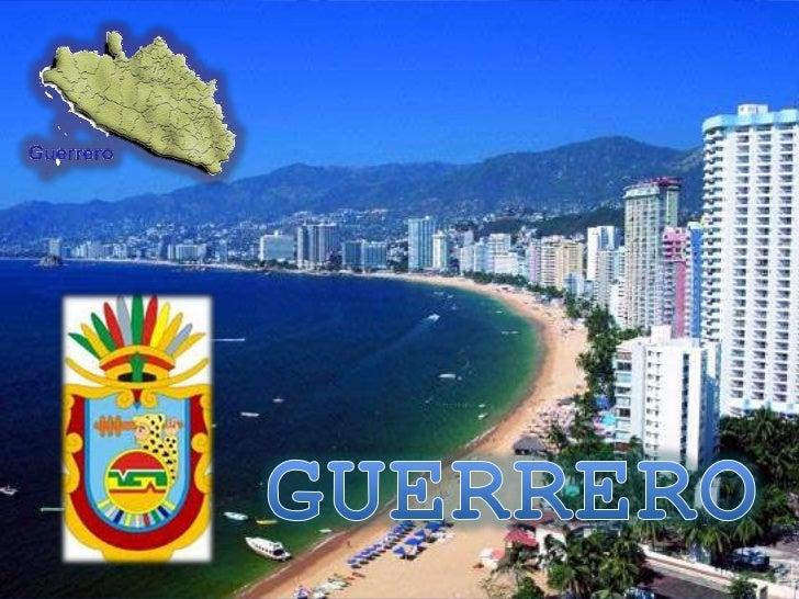 • Localizado en la costa del Pacífico, el estado de  Guerrero comprende una extensión territorial de  63,794 km2 y está pr...