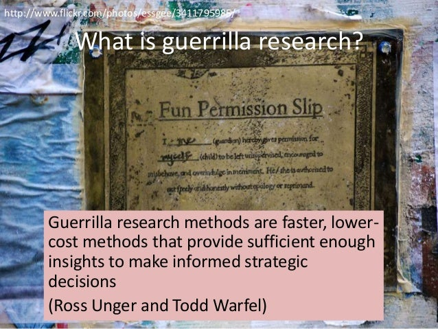 Guerilla marketing research paper