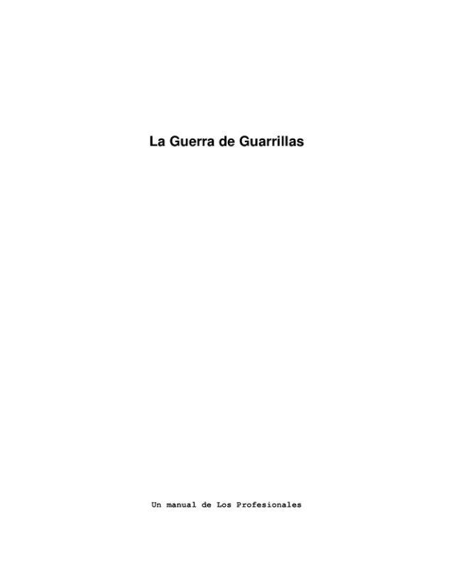 La Guerra de Guarrillas  Un manual do Los Profesionales
