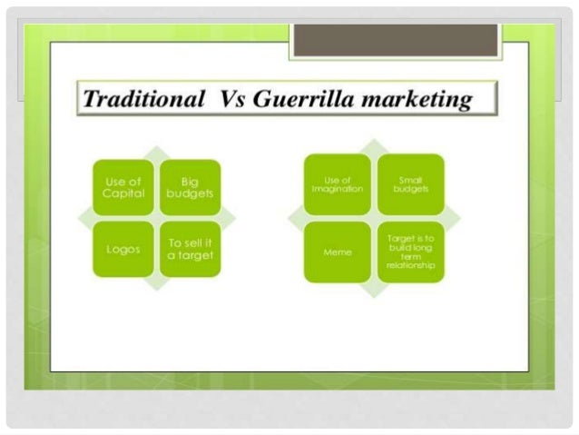 guerrilla marketing research paper Guerrilla research can be a lot more palatable to many bosses and clients who struggle with understanding the value of research in fact, using these methods is a great way to introduce companies to the value that research can bring to projects.