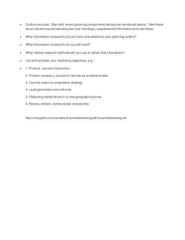 guerrilla resume template