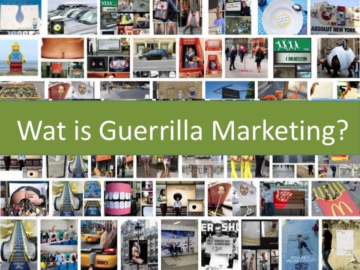 Guerrilla media presentatie Slide 3