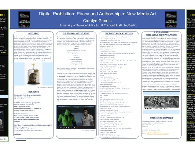 Digital poster template powerpoint