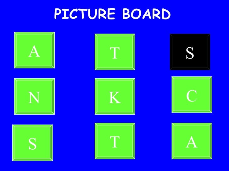 PICTURE BOARD A T S N K C S T A