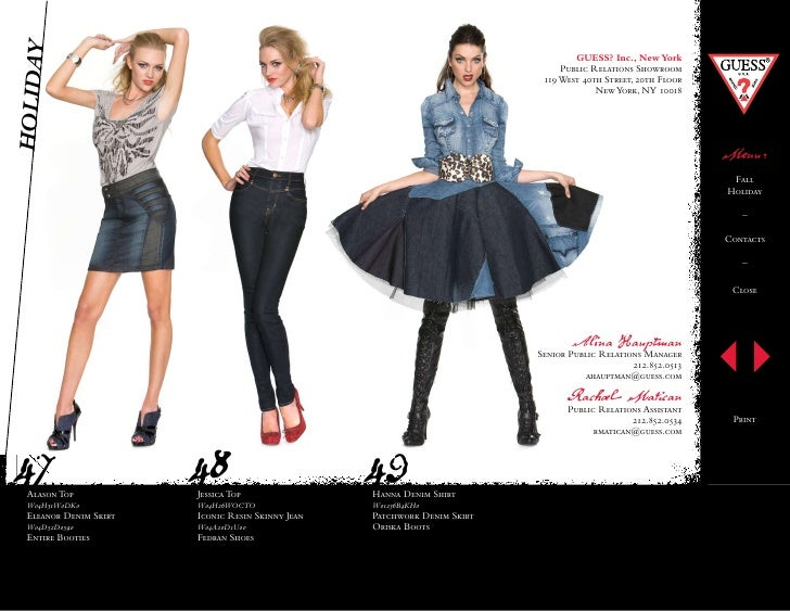 Guess womens 2010 fall winter look book for 14 wall street 20th floor new york new york 10005