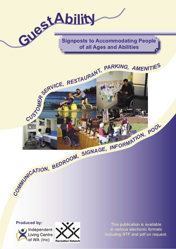 s tAbility      ue     G                     Signposts to Accommodating People                                 of all Ages...