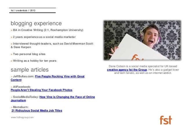 Dane Cobain - Guest Blogging CV Slide 2