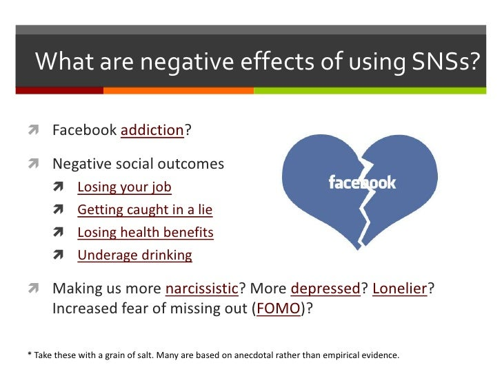 negative impact of social networking sites